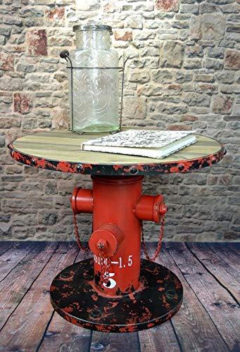 Livitat® Beistelltisch Couchtisch Hydrant H50 cm Metall Vintage Industrie Look Loft LV502