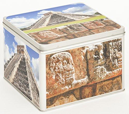 Fotoalbum Metalldose Schachtel Blechbox Keksdose Motiv Mexiko Chichen Itza Yucatan
