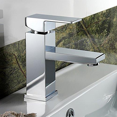 Tout cuivre chaud et Bassin d'eau froide robinet de bain Compteurs simple robinet de bassin trou de bain bassin Faucet Place Wash