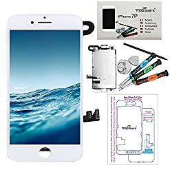 """Complete Replacement Display For Iphone 7 Plus (5,5)"""" Screen Lcd White - Trop Saint ® With A Magnetic Project Map & Tools"""