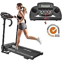 Preisvergleich für Merax Laufband Elektrisches Klappbarer Fitnessgerät Heimtrainer verstaubar kompakt mit LCD-Display Tablethalterung