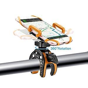 Forceatt-Soporte Bicicleta móvil compatible con todos los manillares para teléfonos móviles iPhone , Samsung ,GPS