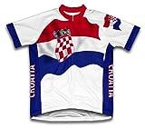 croatie Drapeau à manches courtes Maillot de cyclisme pour femme Large Blanc - blanc