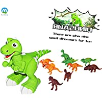 Juguete Dinosaurio Interactivo de Control Remoto, AOMEI Spraying Water RC Interactive Walking Pet Ilumina los Ojos Dragon con Sing Dance Función de Música para Niños, Niños y Niñas