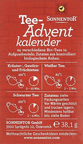 Sonnentor Tee-Adventkalender Edition 2015-2017 bio, Aufgussbeutel 24 Stck, 1er Pack (1 x 38 g) - 3