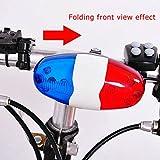 Ndier Elektrische Fahrradklingel, batteriebetriebene Horn Bell Polizei Polizeisirene