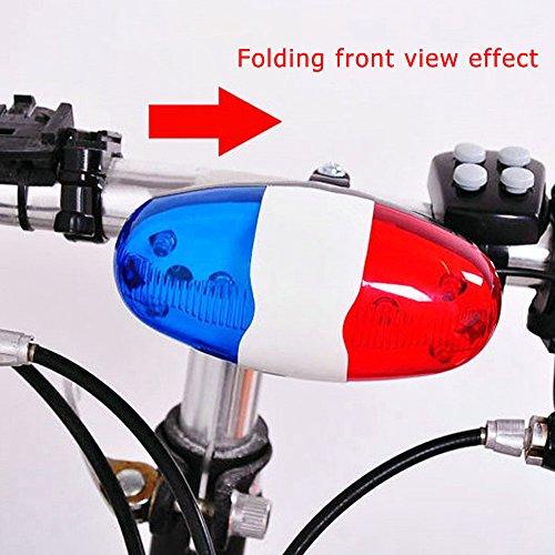 Ndier Elektrische Fahrradklingel, batteriebetriebene Horn Bell Polizei Polizeisirene - Fahrrad-polizei