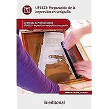 Preparación de la impresión en serigrafía. argi0310 - impresión en serigrafía y tampografía
