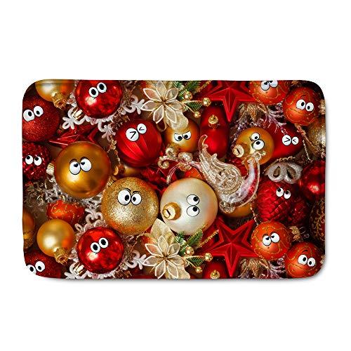 POLERO Fußmatten Weihnachten Schmutzfangmatte Weihnachtsmatte Fußmatte für Haustür Wohnzimmer als Weihnachtsdeko Lustige Deko