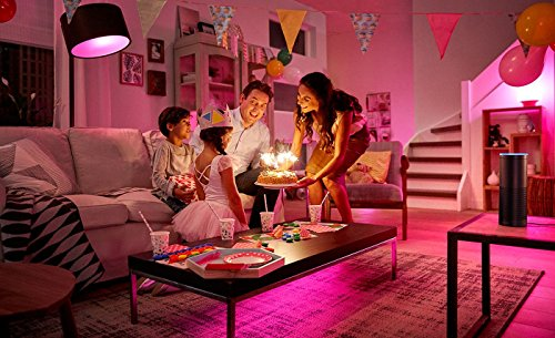 Philips Hue LED Lampe E27 Starter Set inklusive Bridge, 2. Generation, 3-er Set, dimmbar, 16 Mio Farben, app-gesteuert - 6
