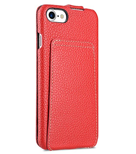 Apple Iphone 7 Melkco Jacka Type Premium Leather Case with Premium Leather Hand Crafted Good Protection,Premium Feel-Red LC Red LC 4