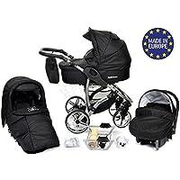 Allivio - 3-in-1 Travel System con carrozzina, seggiolino auto, passeggino sportivo e accessori CON RUOTE GIREVOLI