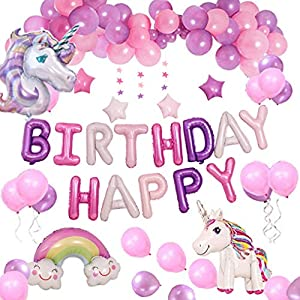 Yidaxing Unicorn Party Decorations Suministros,