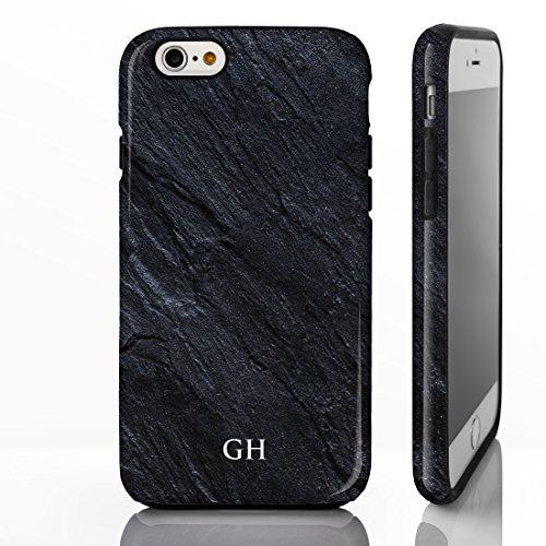Coque personnalisée pour téléphone avec motif marbré et nom ou initiales gravées Coque pour iPhone avec brillance de pierre naturelle Design sur mesure par iCaseDesigner., plastique, Marble 20: Beige  Marble 8: Charcoal Black