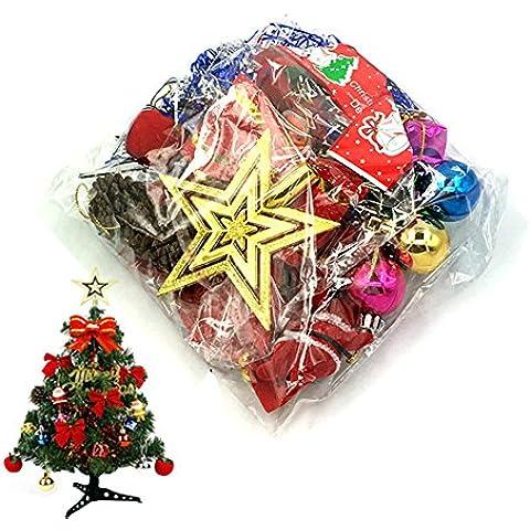 Molie Caja de 23 decoraciones de Mini árbol de Navidad Ornamento colgante