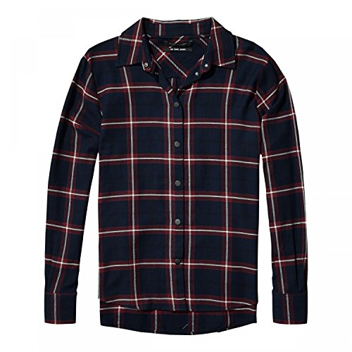 Maison Scotch Damen Langarm Hemd Checked button up shirt 141024 Combo A M (Button-up-shirt Kragen)
