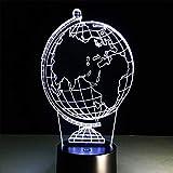 D_HOME Luce Colorata Globale 3D Luce Notturna interfaccia USB Creativo Tocco visivo Leggero (20 * 15 * 5 CM) (Dimensioni : 20 * 15 * 5CM)