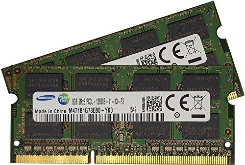 samsung Ram Memory Module for Laptops M471B1G73EB0-YK0 x 2(16GB 204-pin SODIMM DDR3 PC3L-12800 1600MHz)