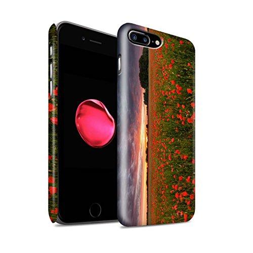 STUFF4 Matte Snap-On Hülle / Case für Apple iPhone 8 Plus / Grünes Blatt Muster / Britisch Landschaft Kollektion Sonnenuntergang