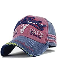 Unisex Gorra de béisbol Vintage Jeans sombrero de golf sol playa algodón  ajustable Gorra Visera anti 4352c8fd44f
