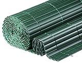 Windhager Sichtschutzmatte Kunststoff in Bambusoptik, Grün, 3 x 0,9 m, 06792