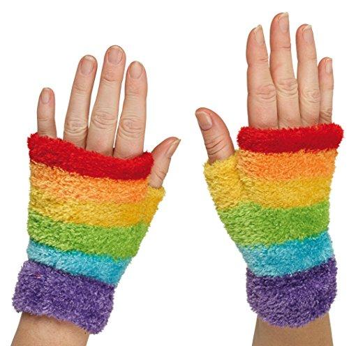 Rainbow Handschuhe für Karneval oder (Rainbow Fingerlose Handschuhe)