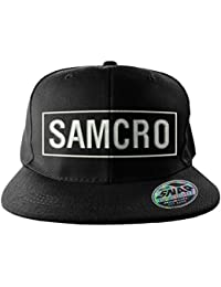 Officially Licensed Merchandise SAMCRO Embroidered Adjustable Size Snapback Cap (Black)