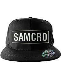 Officiellement Marchandises Sous Licence SAMCRO Brodé Taille Ajustable Snapback Casquette (Noir)