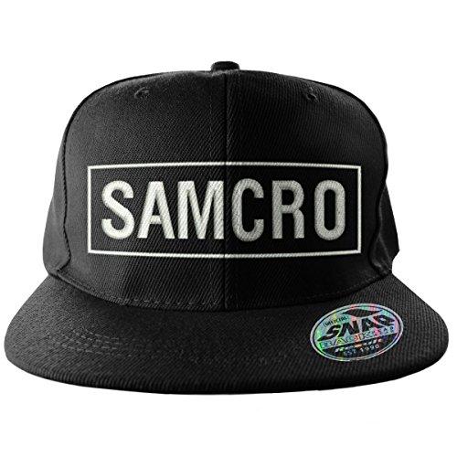 85bc35b8dd4 Offizielles Lizenzprodukt SAMCRO Bestickt Einstellbare Größe Snapback Kappe  (Schwarz)