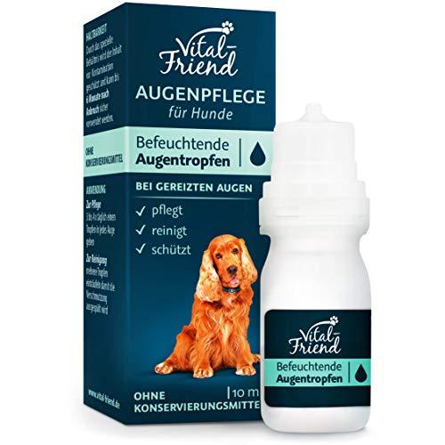 Vital-Friend - sanfte Augenpflege & Augenreinigung für Hunde - ohne Konservierungsmittel - befeuchtende Augentropfen, Schutz, Pflege, 10 ml