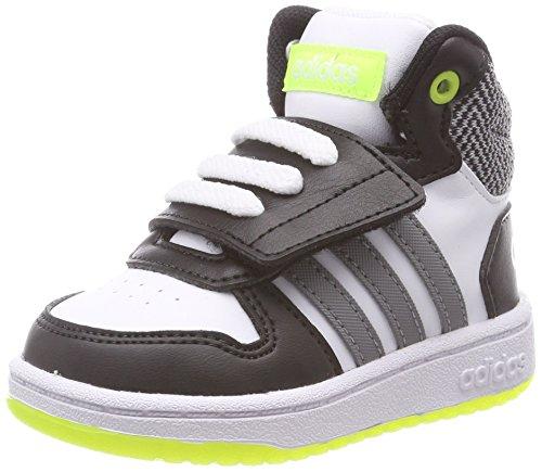 adidas Unisex-Kinder Vs Hoops Mid 2.0 Fitnessschuhe, Weiß (Ftwbla/Gritre/Negbas 000), 25 - Mädchen Mid Sneakers