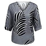 Yesmile Camisas mujer Elegantes Tallas Grandes Camiseta Casual Tops Blusas de Fiesta Vestido Camisero Largo con Botones Sueltos para Mujer Outwear Camisa con Botones