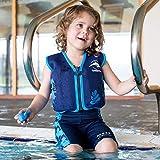 Kinder-Schwimmweste 2J-BB-137 aus Neopren, Blaue Blätter, Größe: 12-16 kg (2-3 Jahre), Brustumfang 56 cm - 6