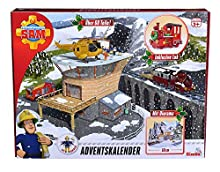 Simba 109251037 Calendrier de l'Avent Sam Le Pompier avec Grande scène de Jeu / avec Histoire de Noël / 24 Surprises / avec 3 Figurines