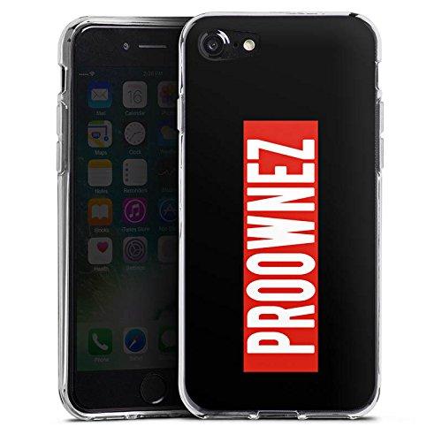 Apple iPhone X Silikon Hülle Case Schutzhülle Proownez Fanartikel Merchandise Youtuber Silikon Case transparent