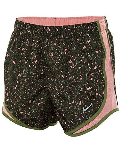 Nike W NK Dry Tempo PR 1 kurze Hosen für Damen, Grün (Legion Green / Bright Melon / Wolf Grey), XL (Grüne Damen Tempo Shorts)