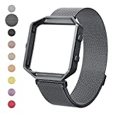 House of Quirk Milanese Loop Bracelet Strap for Fitbit Blaze Band Stainless Steel (Watch NOT Included) - Space Grey