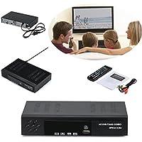 Receptor de TV Vídeo Digital Broadcasting Set Top Box Compatible,Receptor sintonizador DVB-T2/S2 y Grabador Full HD 1080P con Reproductor Dolby Digital PVR (H.264 / MPEG-2/4, HDTV, HDMI, USB 2.0)