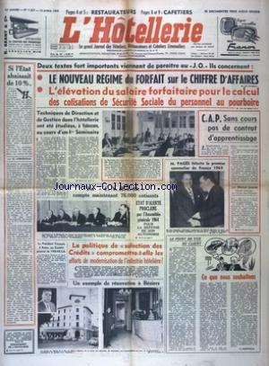 HOTELLERIE (L') [No 1227] du 15/04/1964