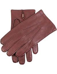 Dents Cashmere Lined Deerskin Leather Gloves Bark