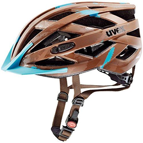 UVEX Erwachsene Fahrradhelm I-VO CC, Brown/Light Blue Mat, 56-60 cm, 4104230417