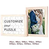 Customized Puzzle for Kids, Painting, Wedding, Birthday, Baby Shower and Anniversary with Personal Picture, Wooden Jigsaw Puzzle From 35 to 1500 Pieces