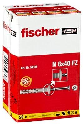 Fischer N6X40FZ Nageldübel 50er Pack 2er Blister von Fischer - Lampenhans.de