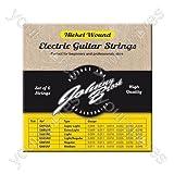 Johnny Brook - Lot de 6 Cordes de Guitare Electrique Haute Qualité en Nickel (Calibre Fin)