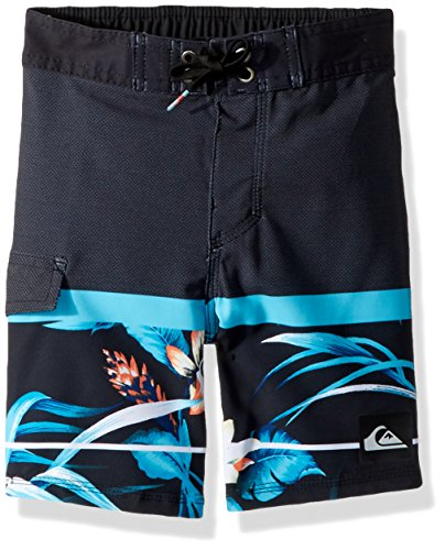 Quiksilver Unisex-Kinder Slabislandb14 Boardshorts, 5, Atomic Blue (Trunks Island Swim)