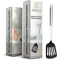 Pfannenwender aus Kunststoff, Edelstahl - ♔ Emma's Premium Pfannenwender ♔ - Bratenwender perfekt für antihaftbeschichtete Pfannen