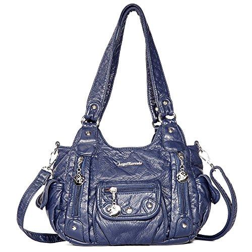 Angel Barcelo Tasche Hobo Frauen Tasche geräumig mehrere Taschen Street Ladies ' Schultertasche Fashion PU Tote Bag (XS161496 blau)