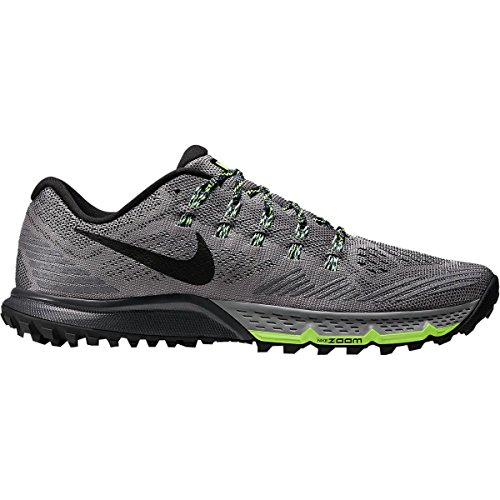Nike Herren Air Zoom Terra Kiger 3 Laufschuhe, Blau Grau / Schwarz / Grün (Cool Grey / Blk-Grn Anthrct-GHST)