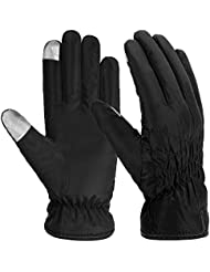 Vbiger Ladies Waterproof Touch Screen Gloves Warm Lined Cold Weather Gloves