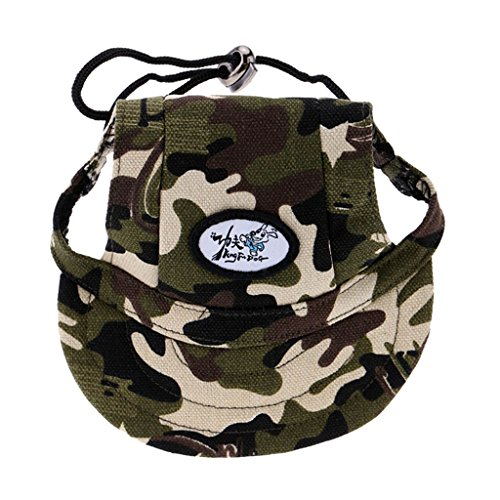 Generic Small Pet Dog Cat Kitten Camouflage Baseball Hat Strap Cap Sunbonnet S